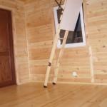 Wnętrze domku - drewno